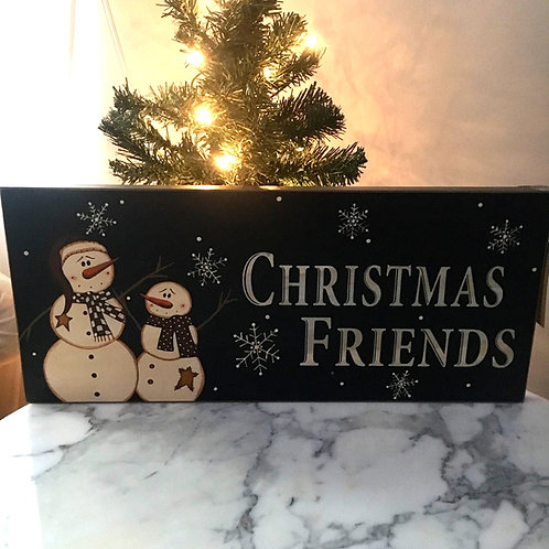 Christmas Friends sign