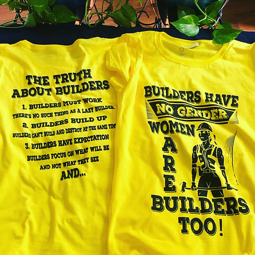 Women Are Builders TOO T-shirt