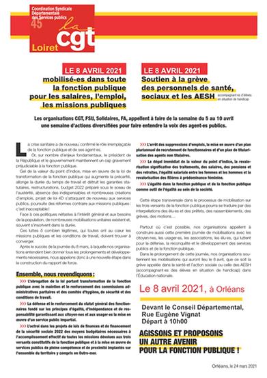 8 avril mobilisation appel_intersyndical