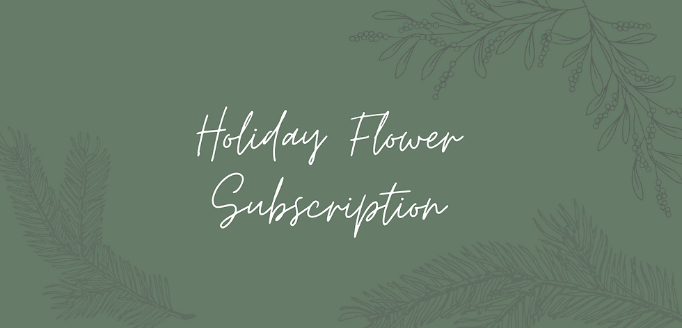 3 Month Bouquet Subscription
