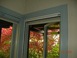 retractable window screen, mounted inside the header