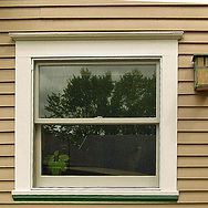 wood window aluminum screens