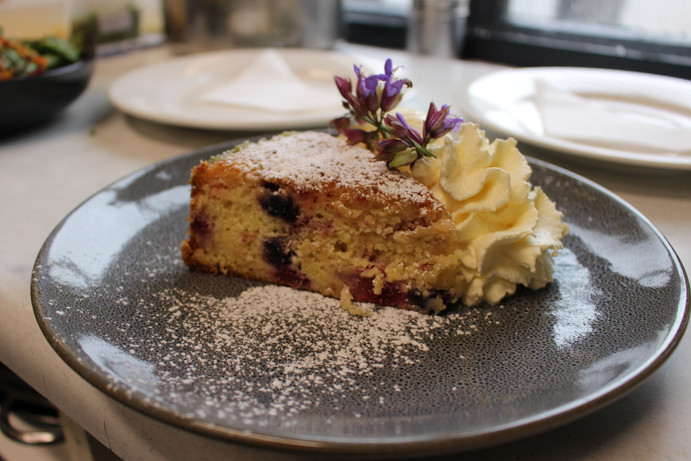 Blueberry, Raspberry and Lime Cake