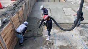 ☆☆現場便り☆☆ 中川区伏屋新築工事 基礎掘削工事が完了し捨てコンクリートを打設しました。