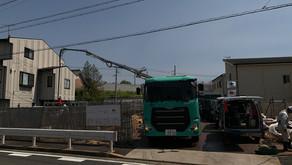 ☆☆現場便り☆☆中川区伏屋新築工事 基礎コンクリートを打設しました。品質管理を行ってから打設を行いました。