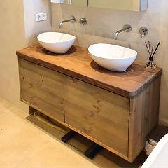 Op maat gemaakte eiken houten badkamermeubel