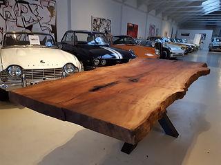 Luxe artikel op maat gemaakte plantaan houten tafel