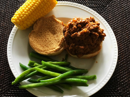 Quick Comfort Food Classic: The Sloppy Joe. Plus Green Beans for Kids (and Adults).