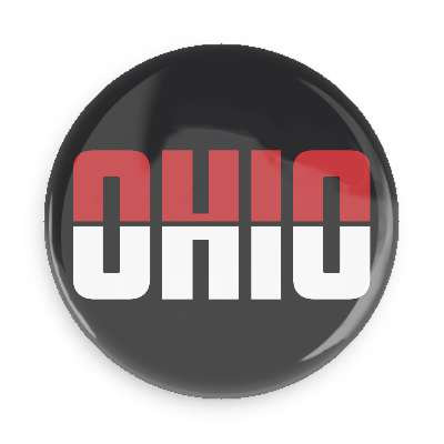 Ohio Red and Black Button