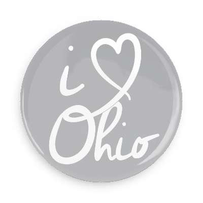 I heart Ohio Button