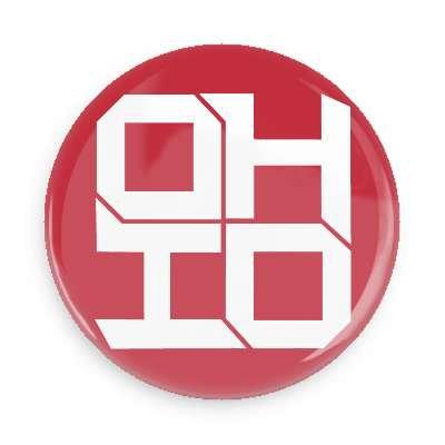 Block Ohio Button ( red )