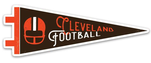 Cleveland Football Pennant Sticker