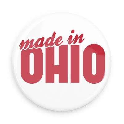 Made in Ohio Button