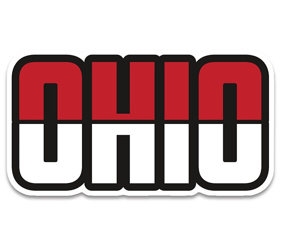 Ohio Red and Black Sticker