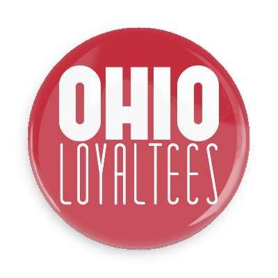 Ohio Loyal Tee Logo Button (Red)