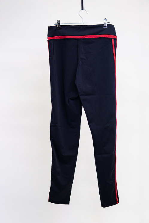 K-Pop Red Striped Leggings