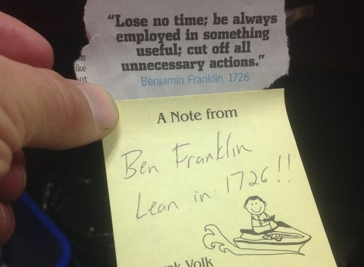 A Note from Ben Franklin