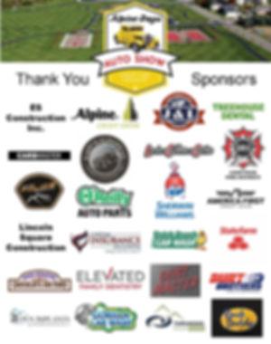 Alpine Days Car Show 2019  Sponsors New-