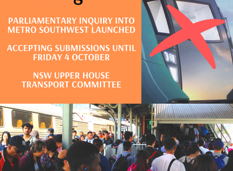 Parliamentary Inquiry into Metro Southwest