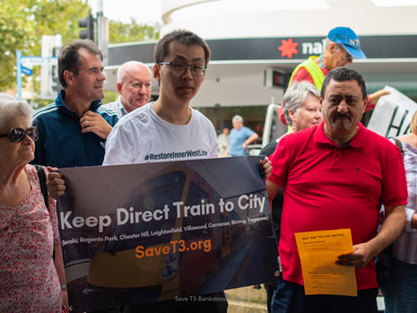 Save Bankstown Line rally in Campsie - 7