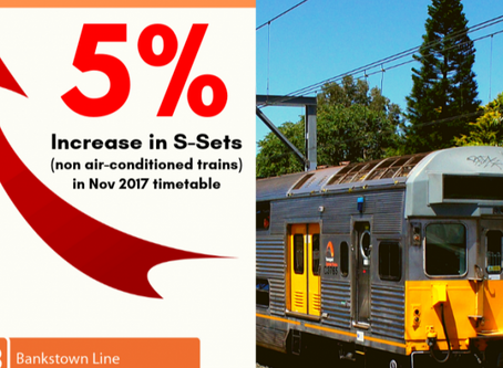 S-Sets Increased on Bankstown Line prior to Metro approval