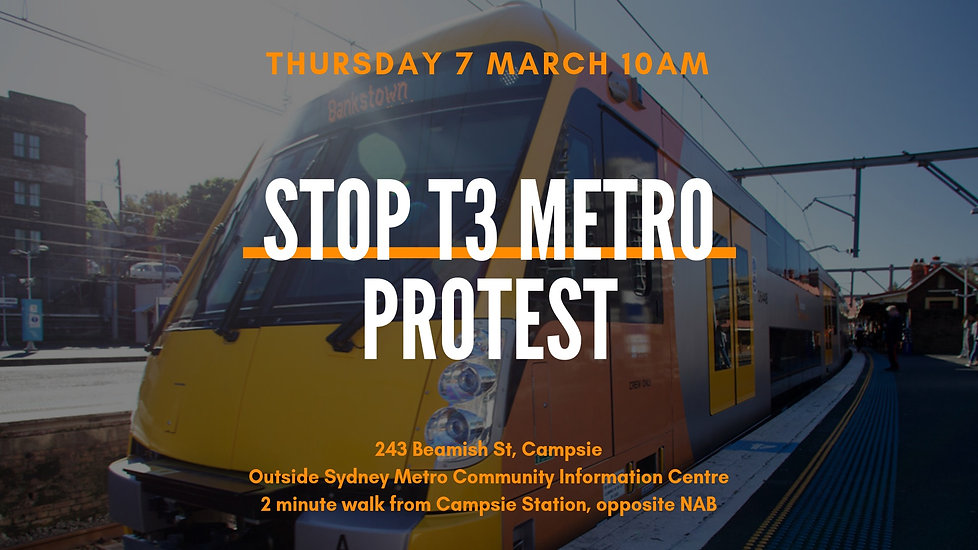 Stop T3 Metro Protest - Thursday 7 March