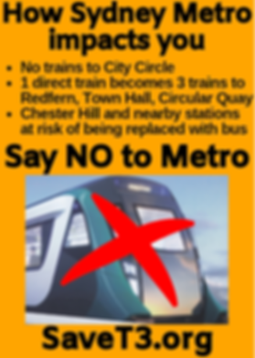 Chester Hill impacted by Metro