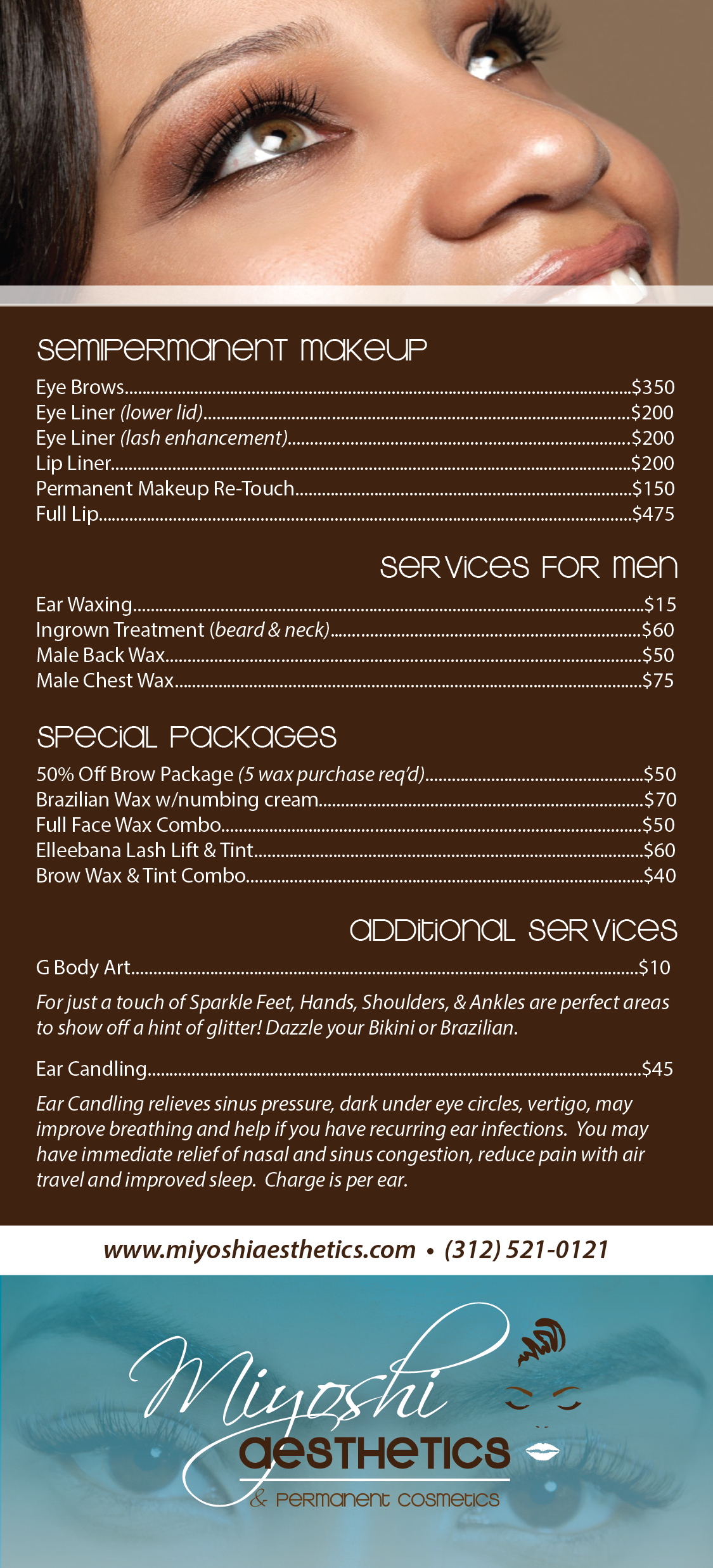 Menu/Services Card 4x9