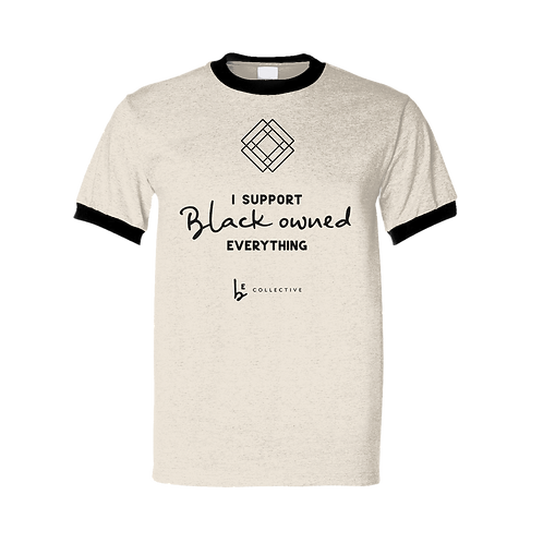 Natural SUPPORT Ringer Unisex Fundraiser Tee | TBEC