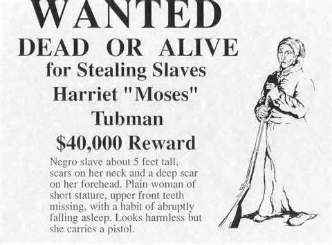 Bounty for harriet tubman