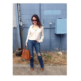 teachersontrend ripped denim jeans shopping brisbane louenhide sexy teacher fashion style