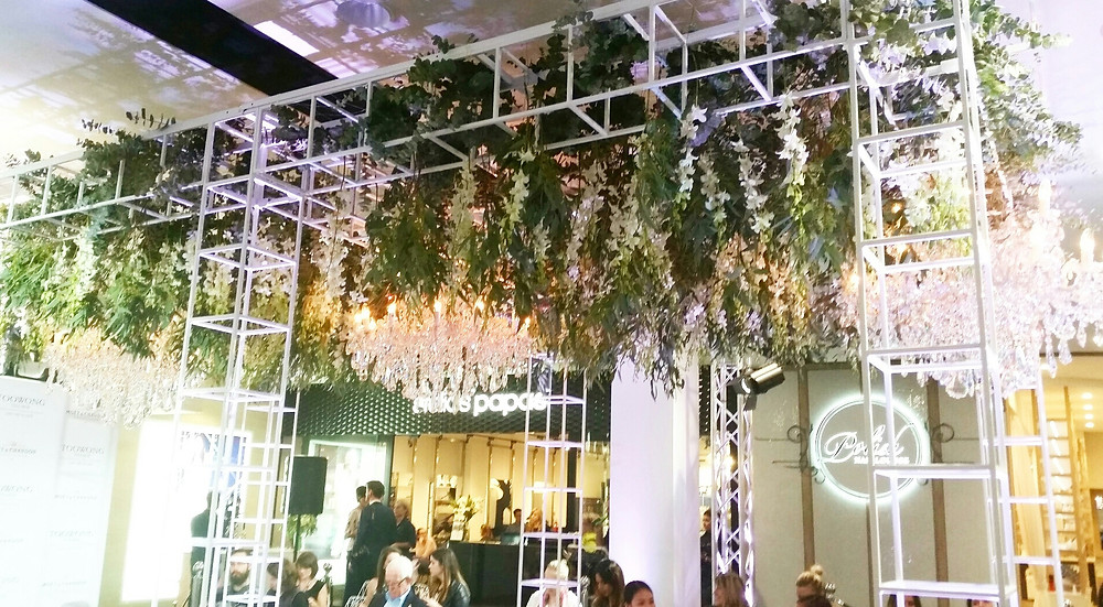 The stunning canopy over the catwalk at the  Moet Vip Fashion Festival, Toowong Village