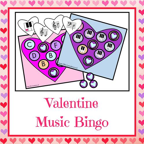Valentine Music Bingo
