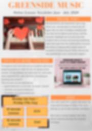 Greenside Music Online Lessons Newslette