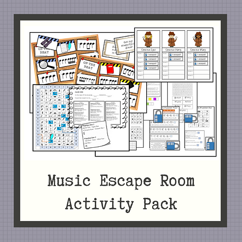 Music Escape Room Activity Pack