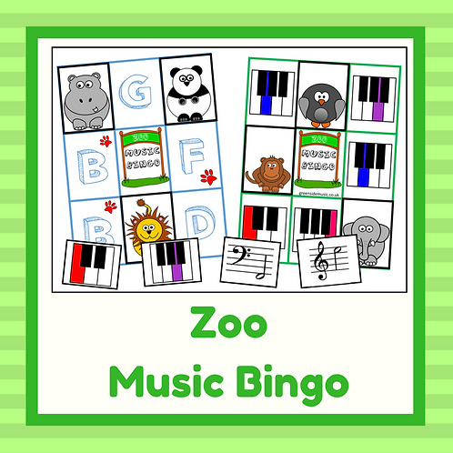 Zoo Music Bingo