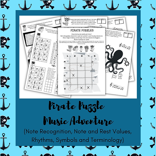 Pirate Puzzle Music Adventure (Worksheets)