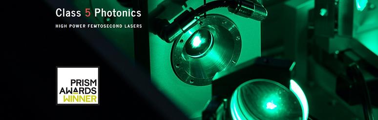 Class 5 Photonics gewinnt den Prism Awards 2018. Wir fertigen Komponenten für Spiegelsysteme, Breadboards, Laserexperimente und Versuchsaufbauten.
