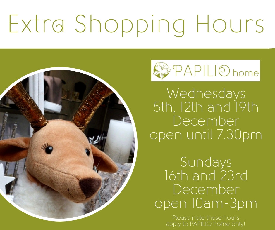extra shopping hours in december