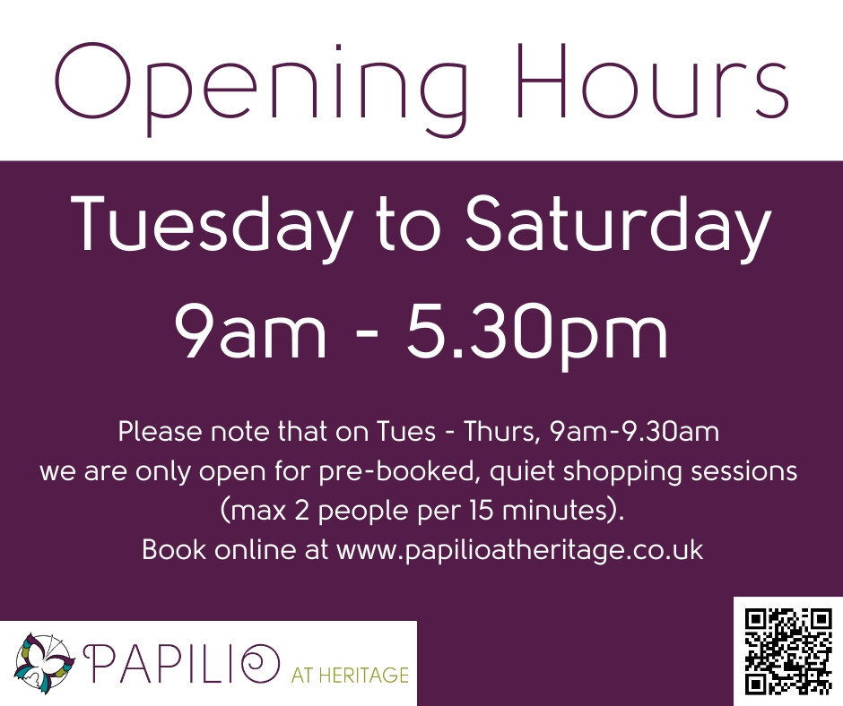 Our new opening hours