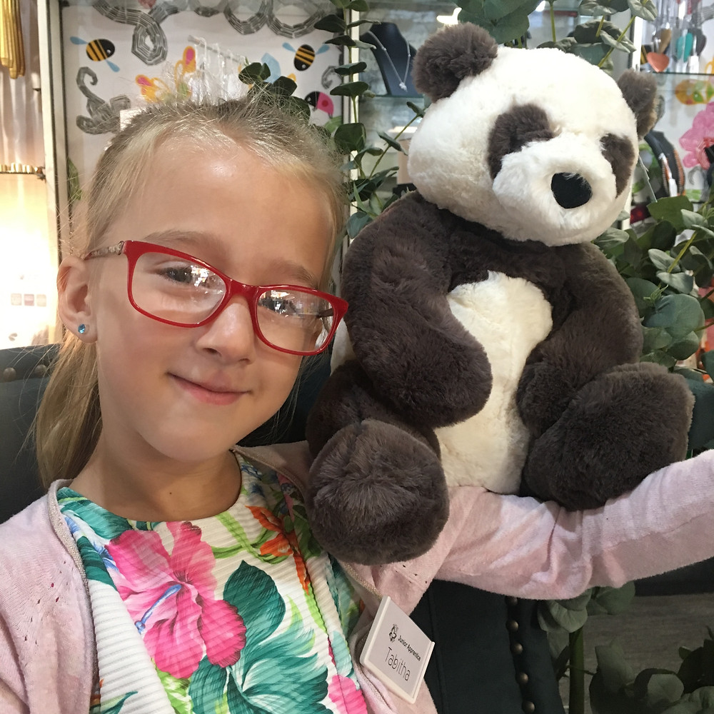 Tabitha with Harry Panda Cuddly Toy