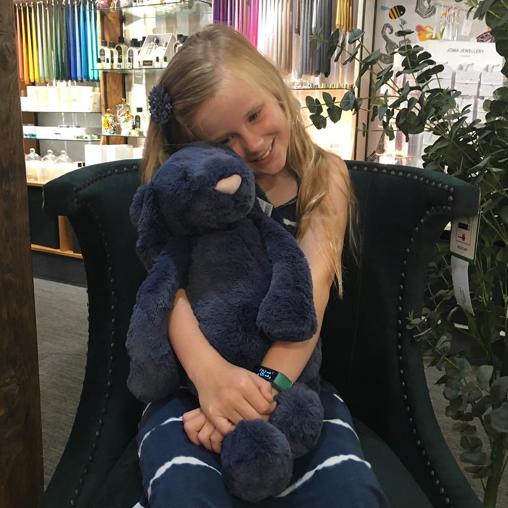Georgia with Navy Bunny