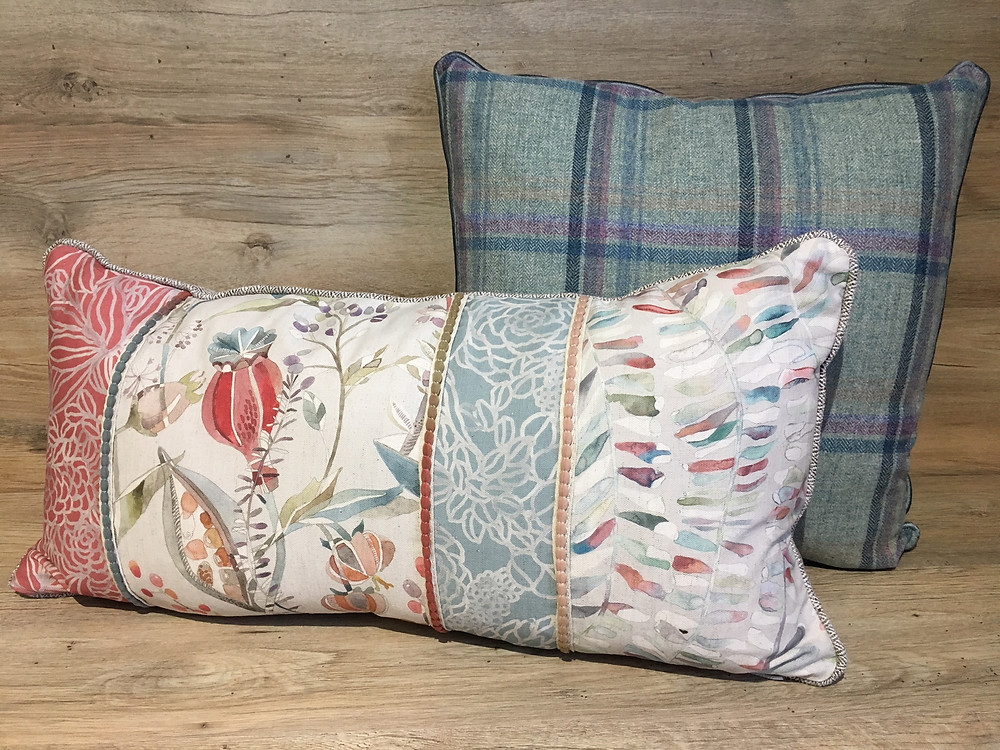Kelston Cinnamon Patchwork Cushion