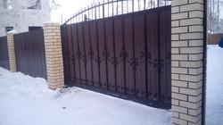 Ворота вид с улицы