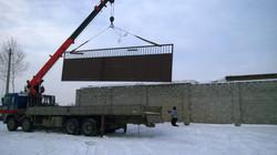 Монтаж ворот шириной 11 метров