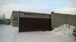 Ворота 11 метров с врезной калиткой