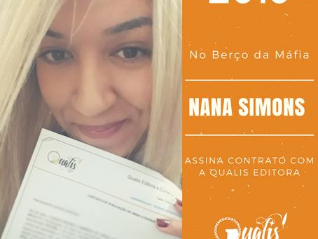 NANA SIMONS ASSINA CONTRATO COM A QUALIS EDITORA