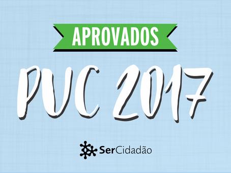 Conquistas: aprovações no vestibular  PUC- RJ 2017