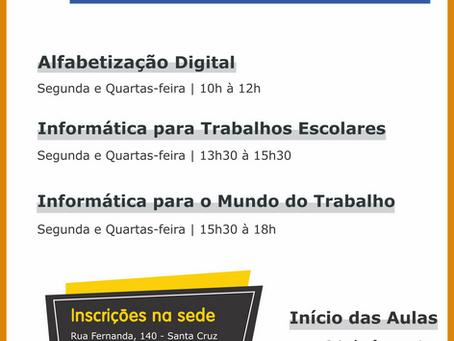 SerCidadão Digital: Cursos de Informática gratuitos para jovens e adultos