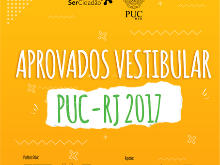 Conheça os nossos aprovados no vestibular PUC-RJ 2018